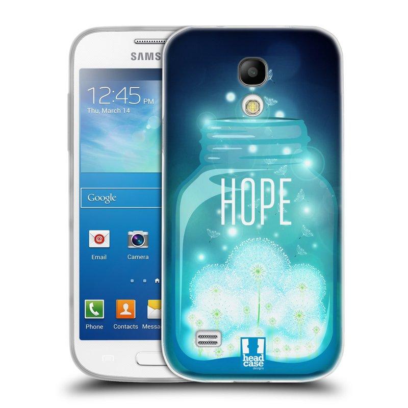 Silikonové pouzdro na mobil Samsung Galaxy S4 Mini VE HEAD CASE SKLENICE HOPE (Silikonový kryt či obal na mobilní telefon Samsung Galaxy S4 Mini VE GT-i9195i (nepasuje na verzi Black Edition))