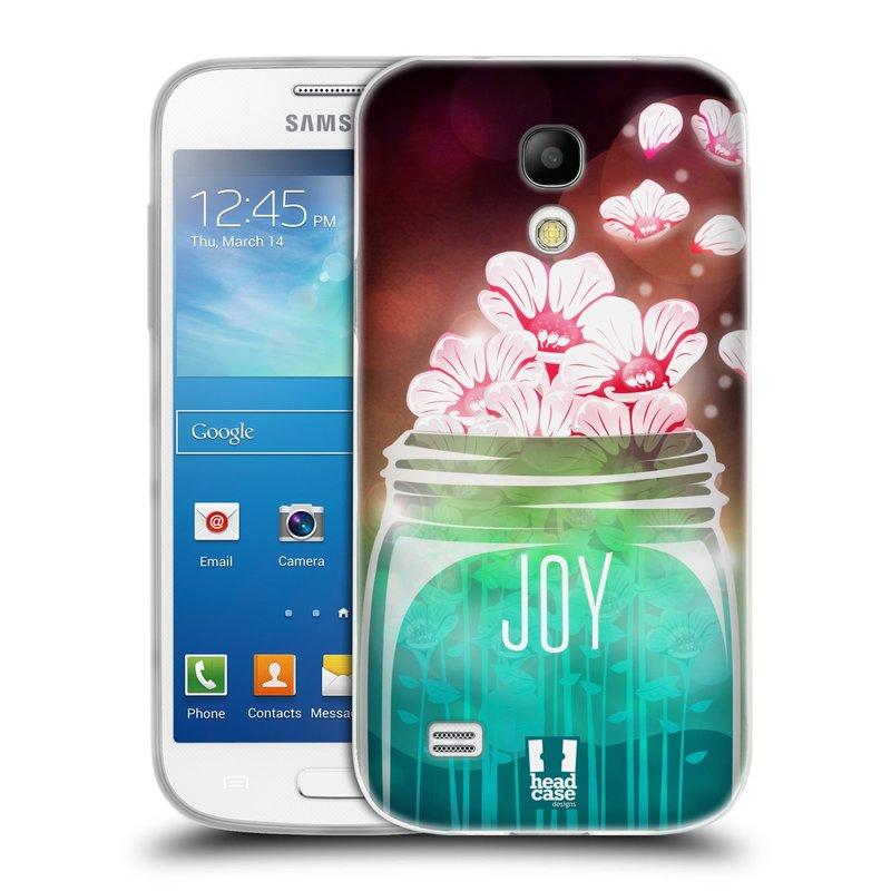 Silikonové pouzdro na mobil Samsung Galaxy S4 Mini VE HEAD CASE SKLENICE JOY (Silikonový kryt či obal na mobilní telefon Samsung Galaxy S4 Mini VE GT-i9195i (nepasuje na verzi Black Edition))