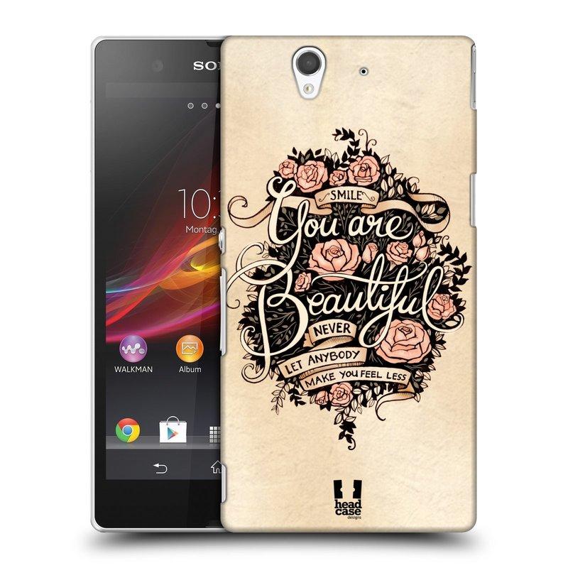 Plastové pouzdro na mobil Sony Xperia Z C6603 HEAD CASE BEAUTIFUL (Kryt či obal na mobilní telefon Sony Xperia Z )