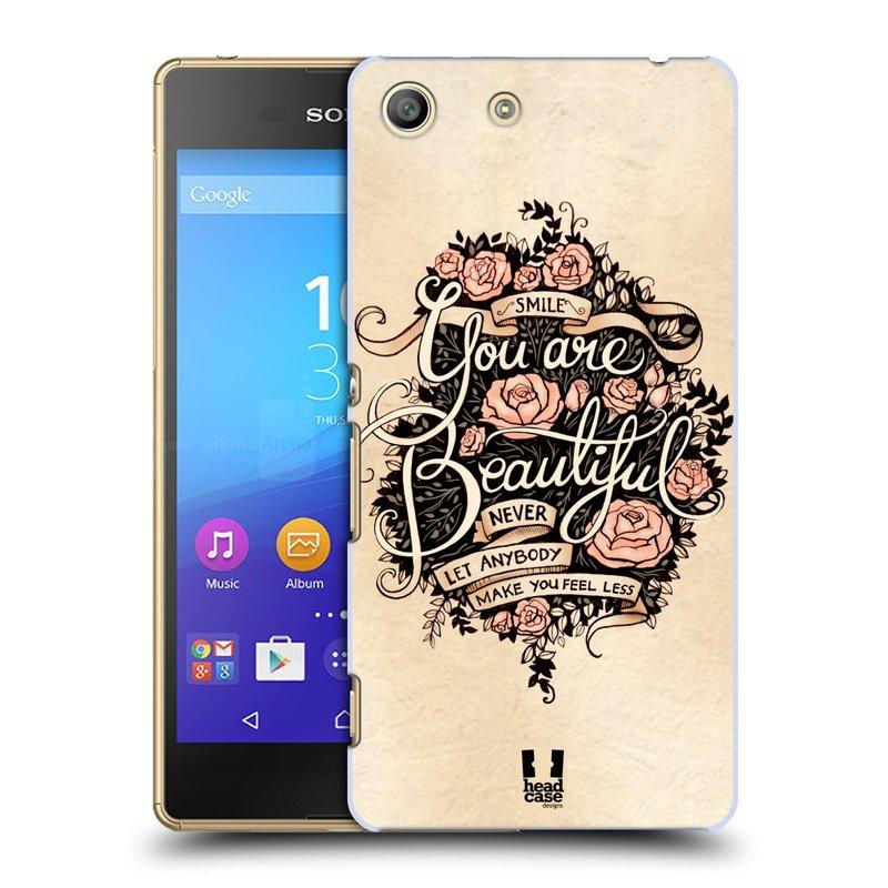 Plastové pouzdro na mobil Sony Xperia M5 HEAD CASE BEAUTIFUL (Kryt či obal na mobilní telefon Sony Xperia M5 Aqua)