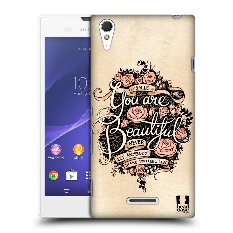 Plastové pouzdro na mobil Sony Xperia T3 D5103 HEAD CASE BEAUTIFUL (Kryt či obal na mobilní telefon Sony Xperia T3 )