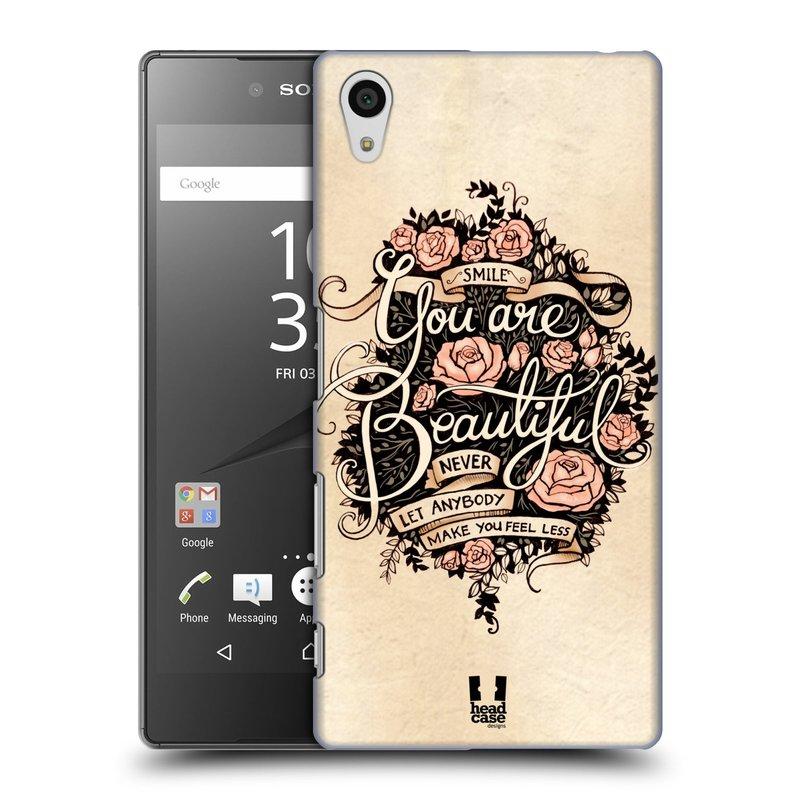 Plastové pouzdro na mobil Sony Xperia Z5 HEAD CASE BEAUTIFUL (Kryt či obal na mobilní telefon Sony Xperia Z5 E6653)