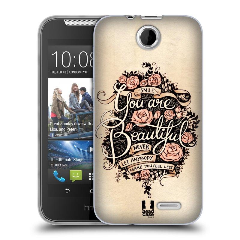 Silikonové pouzdro na mobil HTC Desire 310 HEAD CASE BEAUTIFUL (Silikonový kryt či obal na mobilní telefon HTC Desire 310)