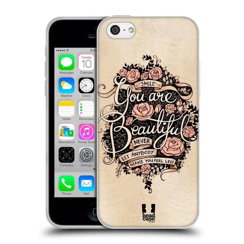 Silikonové pouzdro na mobil Apple iPhone 5C HEAD CASE BEAUTIFUL (Silikonový kryt či obal na mobilní telefon Apple iPhone 5C)