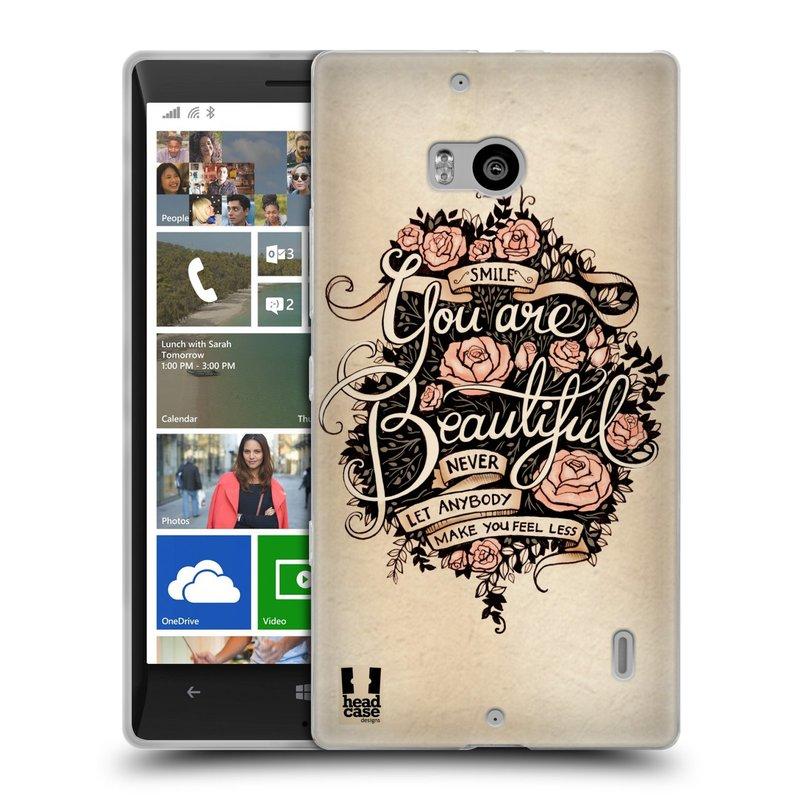 Silikonové pouzdro na mobil Nokia Lumia 930 HEAD CASE BEAUTIFUL (Silikonový kryt či obal na mobilní telefon Nokia Lumia 930)