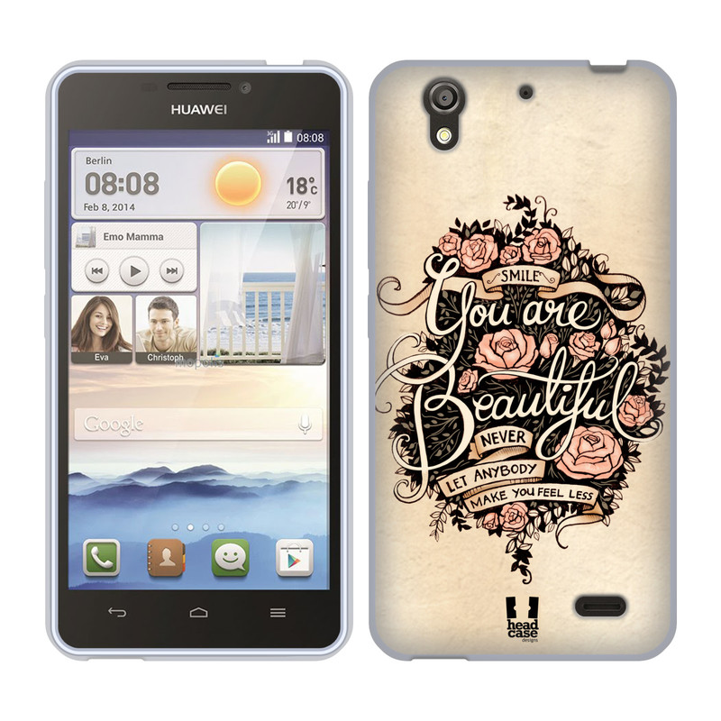 Silikonové pouzdro na mobil Huawei Ascend Y530 HEAD CASE BEAUTIFUL (Silikonový kryt či obal na mobilní telefon Huawei Ascend Y530)
