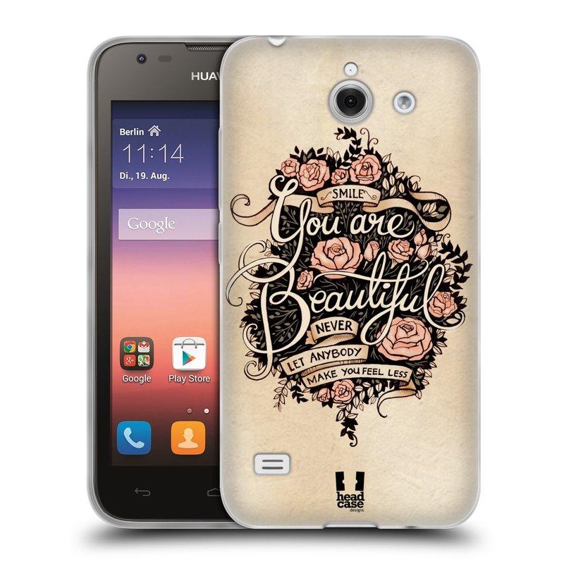 Silikonové pouzdro na mobil Huawei Ascend Y550 HEAD CASE BEAUTIFUL (Silikonový kryt či obal na mobilní telefon Huawei Ascend Y550)