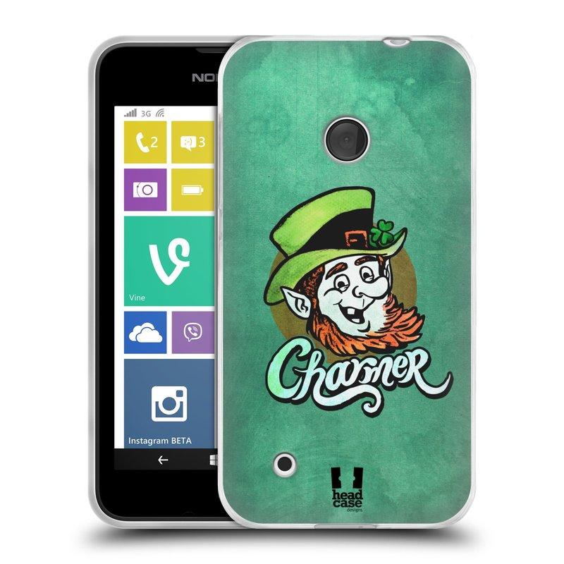 Silikonové pouzdro na mobil Nokia Lumia 530 HEAD CASE CHARMER (Silikonový kryt či obal na mobilní telefon Nokia Lumia 530)