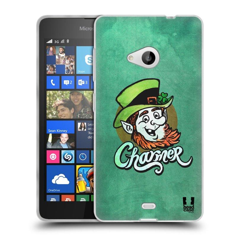 Silikonové pouzdro na mobil Microsoft Lumia 535 HEAD CASE CHARMER (Silikonový kryt či obal na mobilní telefon Microsoft Lumia 535)