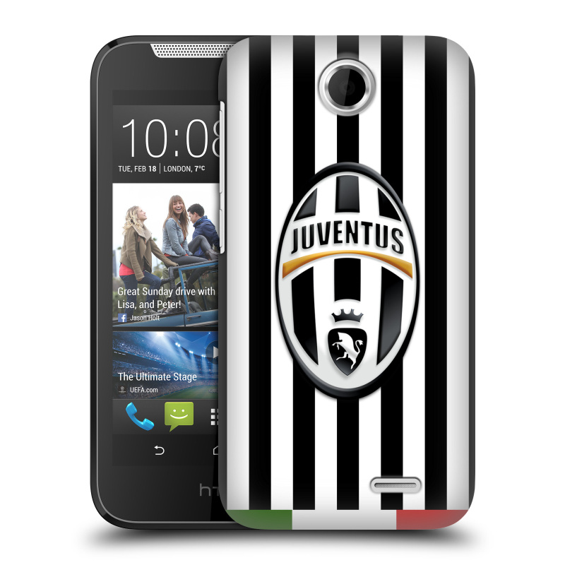 Plastové pouzdro na mobil HTC Desire 310 HEAD CASE Juventus FC - Italian Stripes