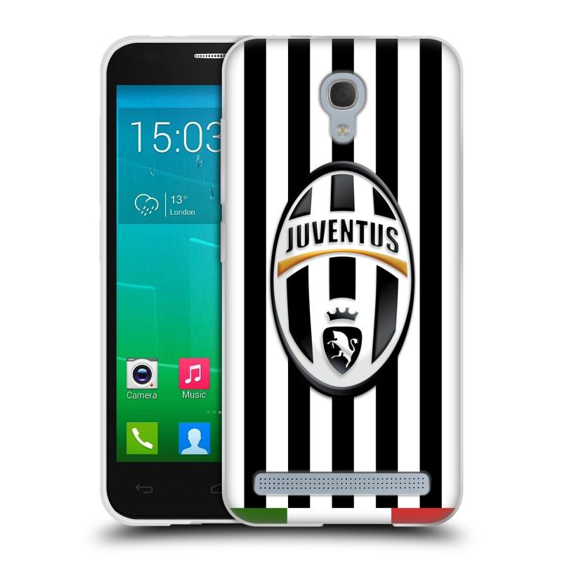 Silikonové pouzdro na mobil Alcatel One Touch Idol 2 Mini S 6036Y HEAD CASE Juventus FC - Italian Stripes (Silikonový kryt či obal na mobilní telefon Juventus FC Official pro Alcatel Idol 2 Mini S OT-6036Y)