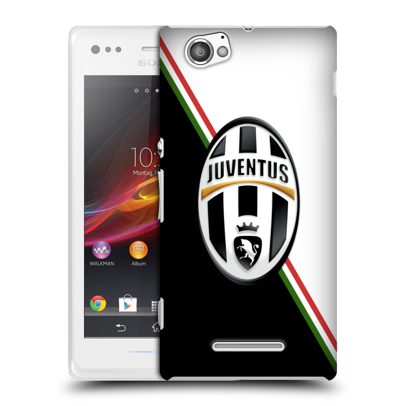 Plastové pouzdro na mobil Sony Xperia M C1905 HEAD CASE Juventus FC - Black and White (Plastový kryt či obal na mobilní telefon Juventus FC Official pro Sony Xperia M )