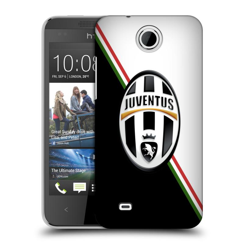 Plastové pouzdro na mobil HTC Desire 300 HEAD CASE Juventus FC - Black and White (Plastový kryt či obal na mobilní telefon Juventus FC Official pro HTC Desire 300)