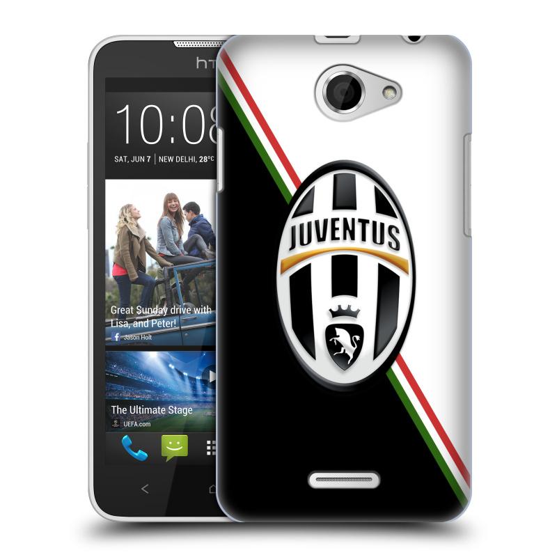 Plastové pouzdro na mobil HTC Desire 516 HEAD CASE Juventus FC - Black and White (Plastový kryt či obal na mobilní telefon Juventus FC Official pro HTC Desire 516 Dual SIM)