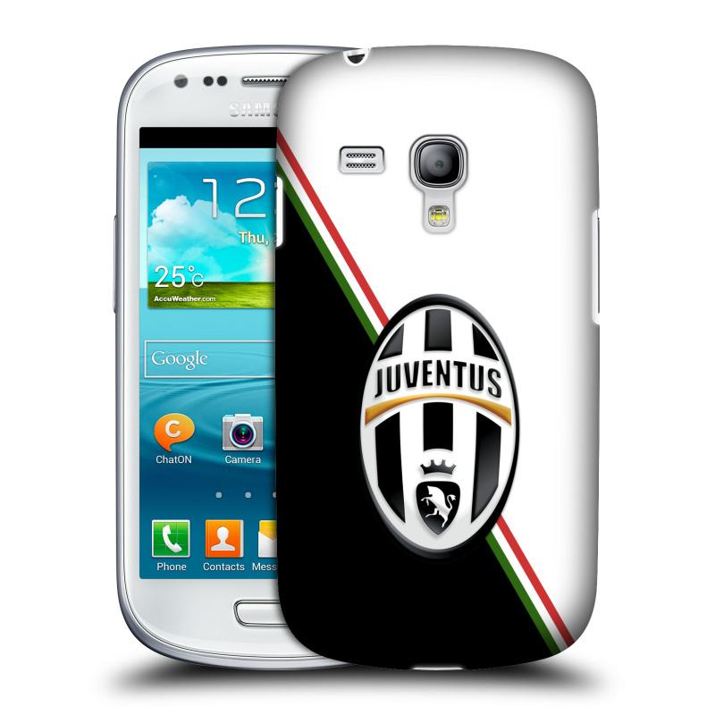 Silikonové pouzdro na mobil Samsung Galaxy S III Mini VE HEAD CASE Juventus FC - Black and White (Plastový kryt či obal na mobilní telefon Juventus FC Official pro Samsung Galaxy S3 Mini VE GT-i8200)
