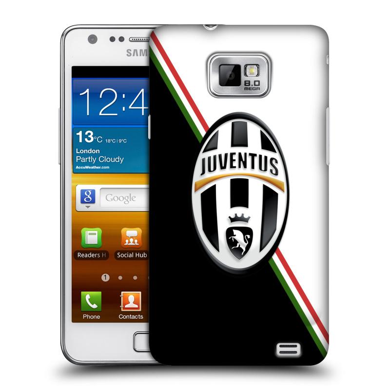Plastové pouzdro na mobil Samsung Galaxy S II HEAD CASE Juventus FC - Black and White (Plastový kryt či obal na mobilní telefon Juventus FC Official pro Samsung Galaxy S II GT-i9100)