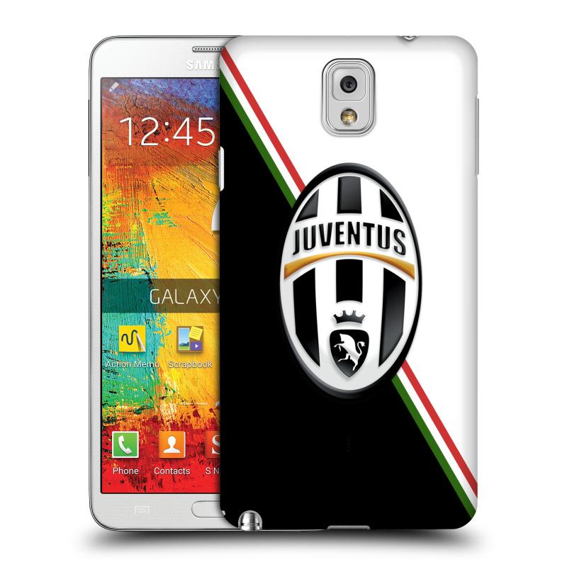 Plastové pouzdro na mobil Samsung Galaxy Note 3 HEAD CASE Juventus FC - Black and White (Plastový kryt či obal na mobilní telefon Juventus FC Official pro Samsung Galaxy Note 3 SM-N9005)