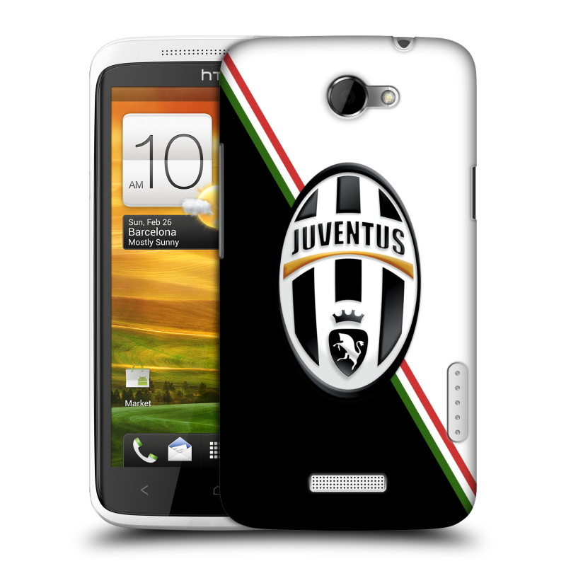 Plastové pouzdro na mobil HTC ONE X HEAD CASE Juventus FC - Black and White (Plastový kryt či obal na mobilní telefon Juventus FC Official pro HTC ONE X)