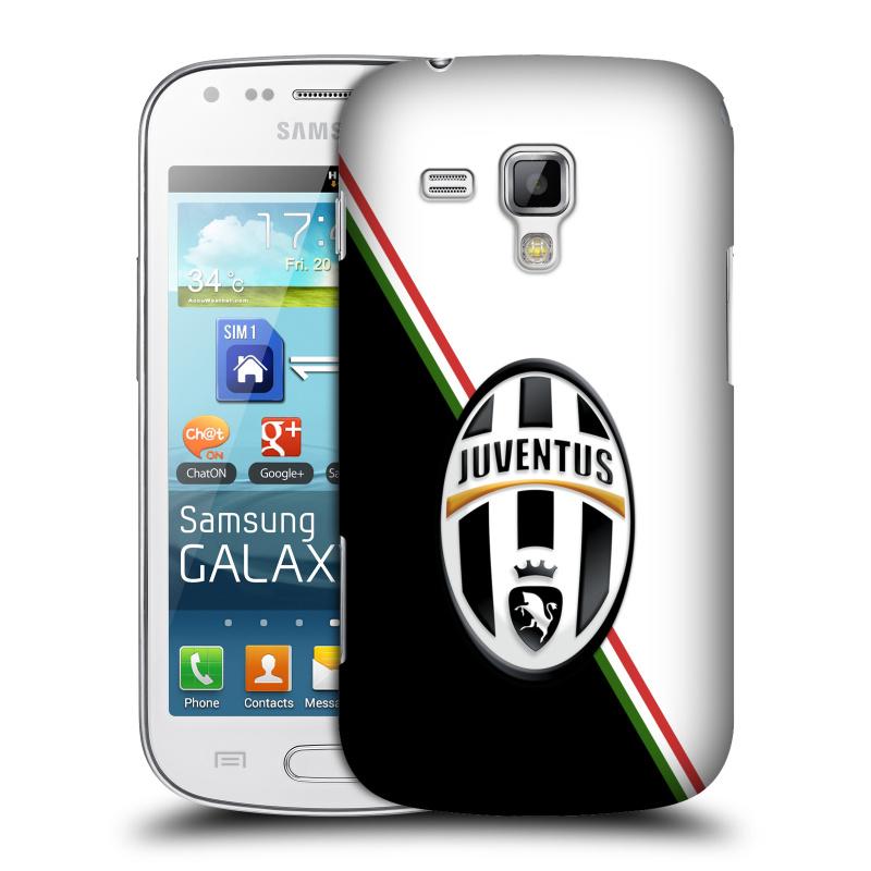 Plastové pouzdro na mobil Samsung Galaxy S Duos 2 HEAD CASE Juventus FC - Black and White (Plastový kryt či obal na mobilní telefon Juventus FC Official pro Samsung Galaxy S Duos 2 GT-S7582)