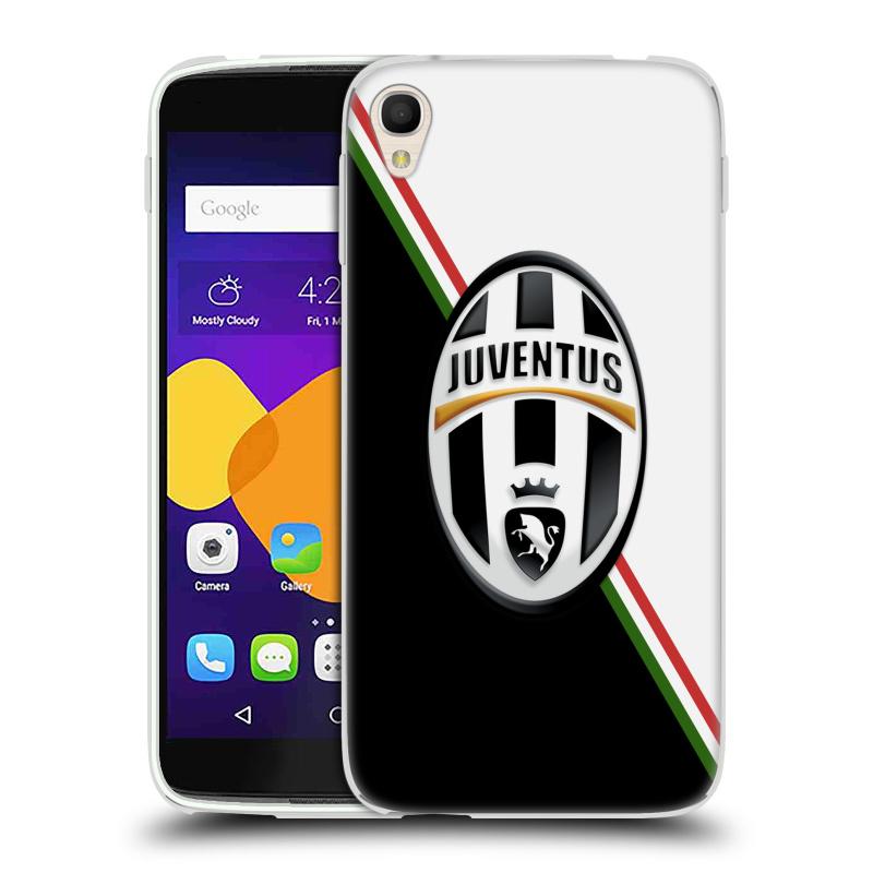 Silikonové pouzdro na mobil Alcatel One Touch 6045Y Idol 3 HEAD CASE Juventus FC - Black and White (Silikonový kryt či obal na mobilní telefon Juventus FC Official pro Alcatel One Touch Idol 3 OT-6045Y)