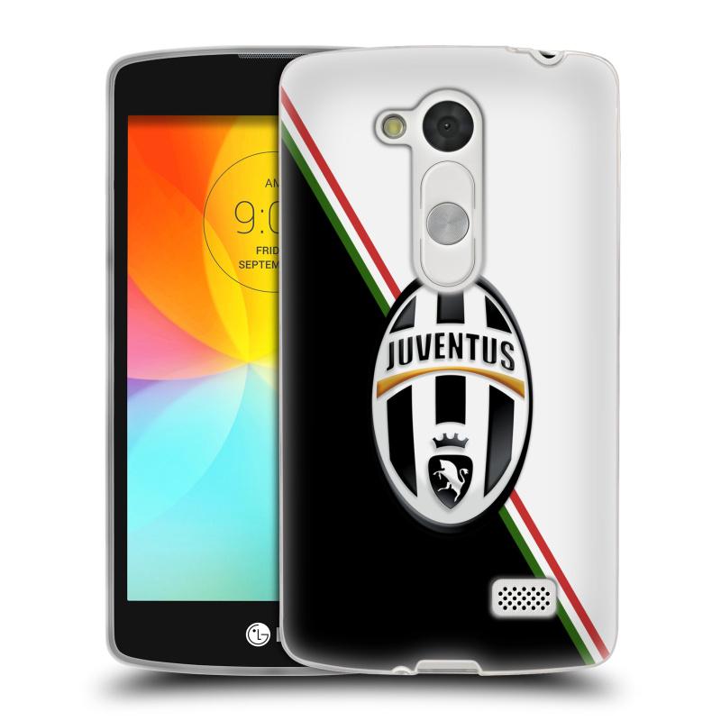 Silikonové pouzdro na mobil LG L Fino HEAD CASE Juventus FC - Black and White (Silikonový kryt či obal na mobilní telefon Juventus FC Official pro LG L Fino a LG L Fino Dual)