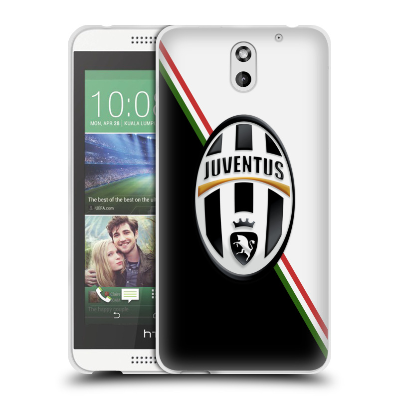 Silikonové pouzdro na mobil HTC Desire 610 HEAD CASE Juventus FC - Black and White (Silikonový kryt či obal na mobilní telefon Juventus FC Official pro HTC Desire 610)