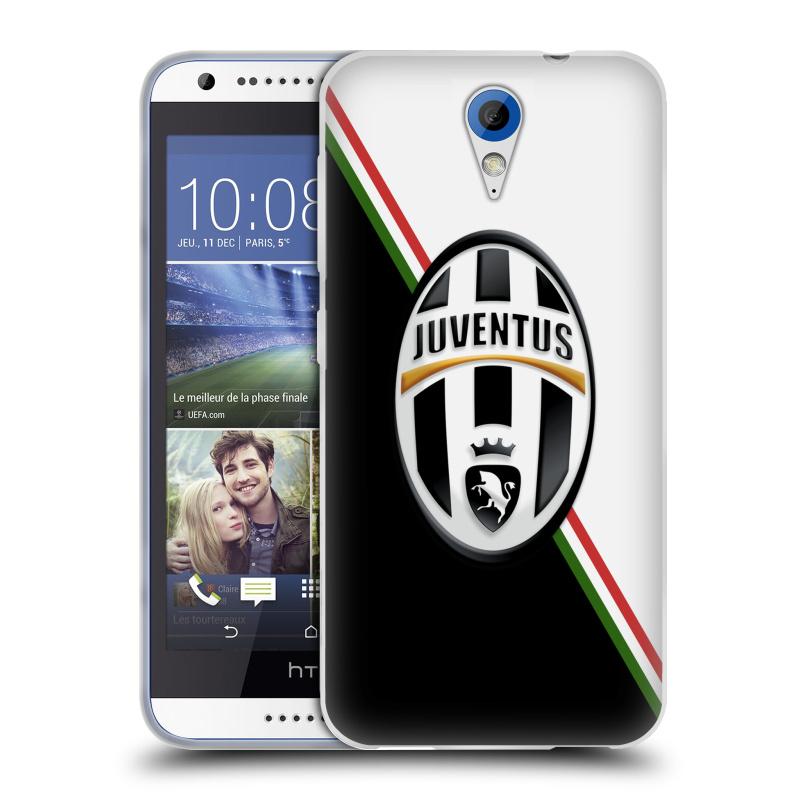 Silikonové pouzdro na mobil HTC Desire 620 HEAD CASE Juventus FC - Black and White (Silikonový kryt či obal na mobilní telefon Juventus FC Official pro HTC Desire 620)