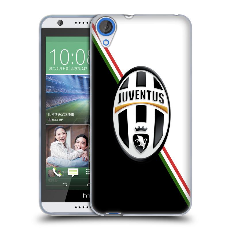 Silikonové pouzdro na mobil HTC Desire 820 HEAD CASE Juventus FC - Black and White (Silikonový kryt či obal na mobilní telefon Juventus FC Official pro HTC Desire 820)