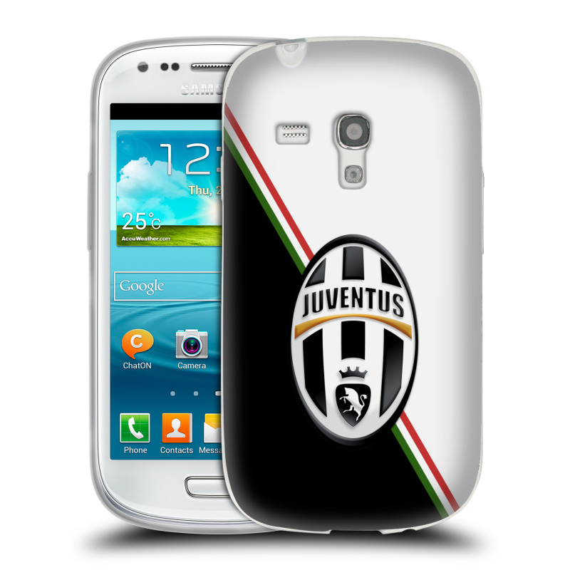 Silikonové pouzdro na mobil Samsung Galaxy S III Mini HEAD CASE Juventus FC - Black and White (Silikonový kryt či obal na mobilní telefon Juventus FC Official pro Samsung Galaxy S III Mini GT-i8190)
