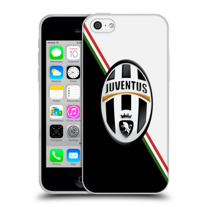 Silikonové pouzdro na mobil Apple iPhone 5C HEAD CASE Juventus FC - Black and White (Silikonový kryt či obal na mobilní telefon Juventus FC Official pro Apple iPhone 5C)