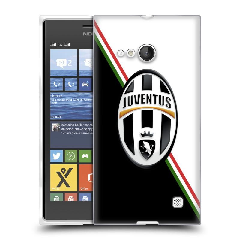 Silikonové pouzdro na mobil Nokia Lumia 730 Dual SIM HEAD CASE Juventus FC - Black and White (Silikonový kryt či obal na mobilní telefon Juventus FC Official pro Nokia Lumia 730 Dual SIM)
