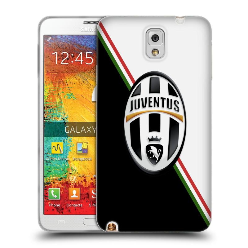 Silikonové pouzdro na mobil Samsung Galaxy Note 3 HEAD CASE Juventus FC - Black and White (Silikonový kryt či obal na mobilní telefon Juventus FC Official pro Samsung Galaxy Note 3 SM-N9005)