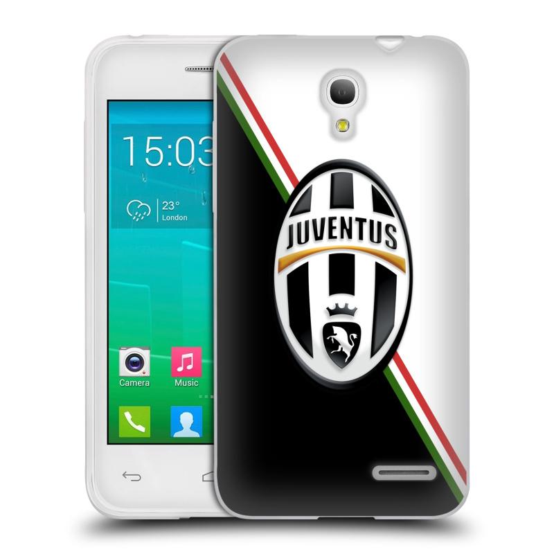 Silikonové pouzdro na mobil Alcatel One Touch Pop S3 HEAD CASE Juventus FC - Black and White (Silikonový kryt či obal na mobilní telefon Juventus FC Official pro Alcatel OT- 5050Y POP S3)