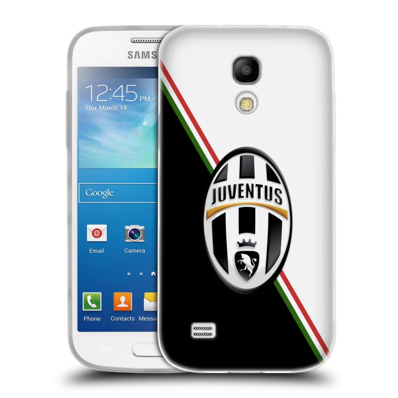 Silikonové pouzdro na mobil Samsung Galaxy S4 Mini HEAD CASE Juventus FC - Black and White (Silikonový kryt či obal na mobilní telefon Juventus FC Official pro Samsung Galaxy S4 Mini GT-i9195 / i9190)