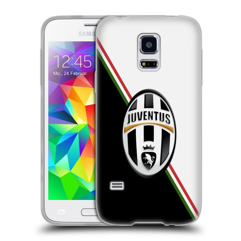 Silikonové pouzdro na mobil Samsung Galaxy S5 Mini HEAD CASE Juventus FC - Black and White (Silikonový kryt či obal na mobilní telefon Juventus FC Official pro Samsung Galaxy S5 Mini SM-G800F)