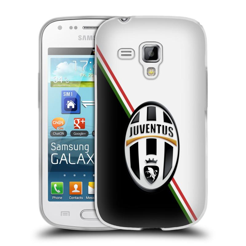 Silikonové pouzdro na mobil Samsung Galaxy S Duos 2 HEAD CASE Juventus FC - Black and White (Silikonový kryt či obal na mobilní telefon Juventus FC Official pro Samsung Galaxy S Duos 2 GT-S7582)