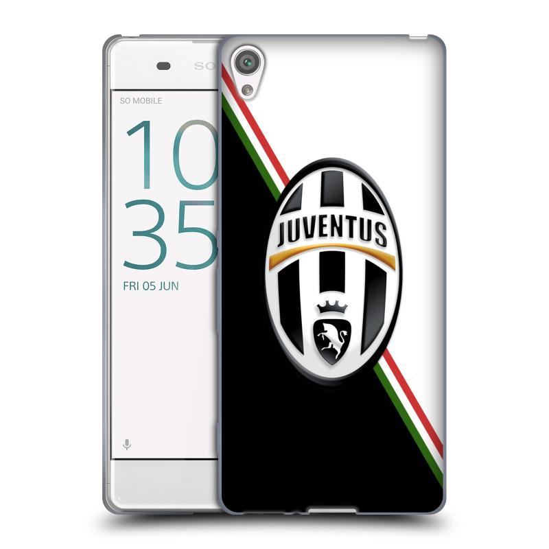Silikonové pouzdro na mobil Sony Xperia XA HEAD CASE Juventus FC - Black and White (Silikonový kryt či obal na mobilní telefon Juventus FC Official pro Sony Xperia XA F3111 / Dual SIM F3112)