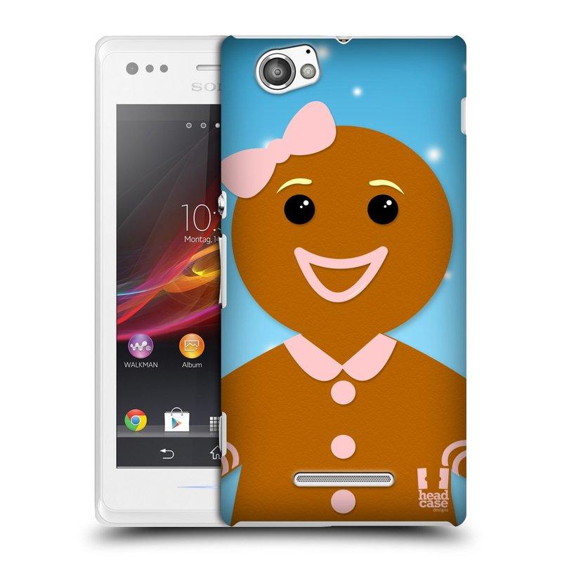 Plastové pouzdro na mobil Sony Xperia M C1905 HEAD CASE VÁNOCE PERNÍČEK (Kryt či obal na mobilní telefon Sony Xperia M a M Dual)
