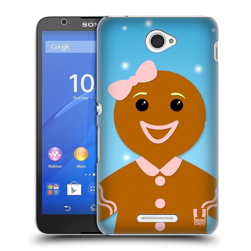 Plastové pouzdro na mobil Sony Xperia E4 E2105 HEAD CASE VÁNOCE PERNÍČEK (Kryt či obal na mobilní telefon Sony Xperia E4 a E4 Dual SIM)