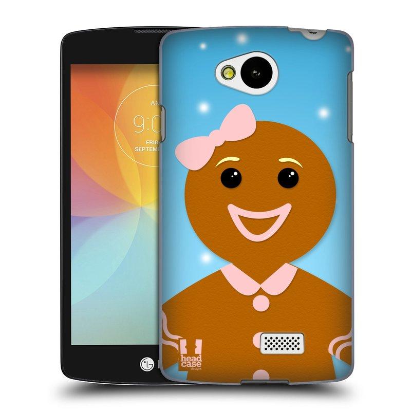 Plastové pouzdro na mobil LG F60 HEAD CASE VÁNOCE PERNÍČEK (Kryt či obal na mobilní telefon LG F60 D390n)
