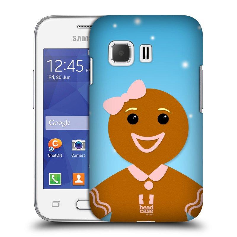 Plastové pouzdro na mobil Samsung Galaxy Young 2 HEAD CASE VÁNOCE PERNÍČEK (Kryt či obal na mobilní telefon Samsung Galaxy Young 2 SM-G130)