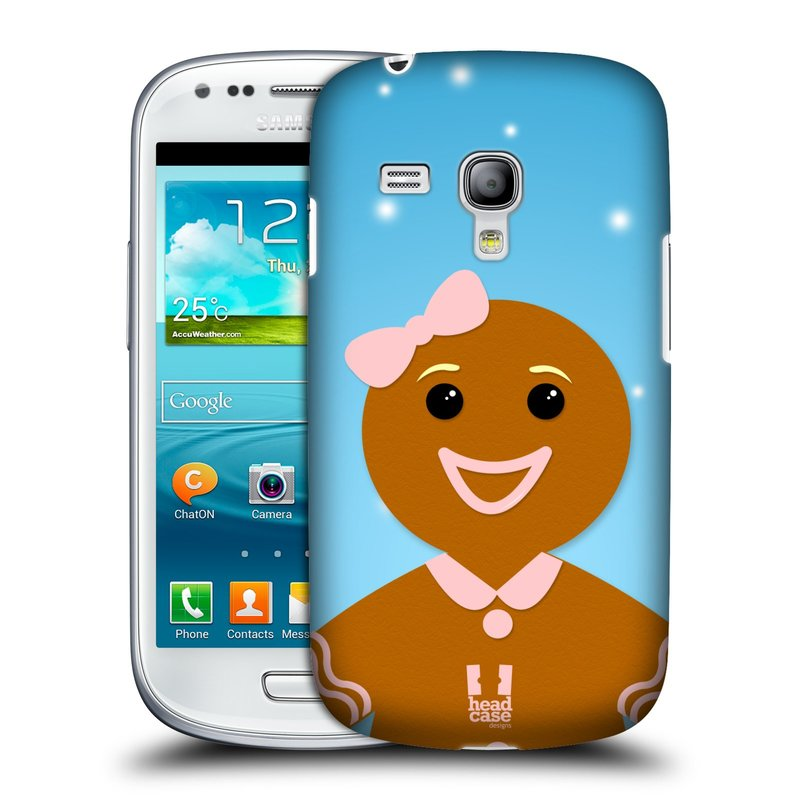 Plastové pouzdro na mobil Samsung Galaxy S III Mini HEAD CASE VÁNOCE PERNÍČEK (Kryt či obal na mobilní telefon Samsung Galaxy S III Mini GT-i8190)