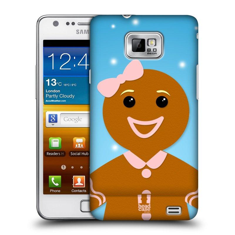 Plastové pouzdro na mobil Samsung Galaxy S II HEAD CASE VÁNOCE PERNÍČEK (Kryt či obal na mobilní telefon Samsung Galaxy S II GT-i9100)