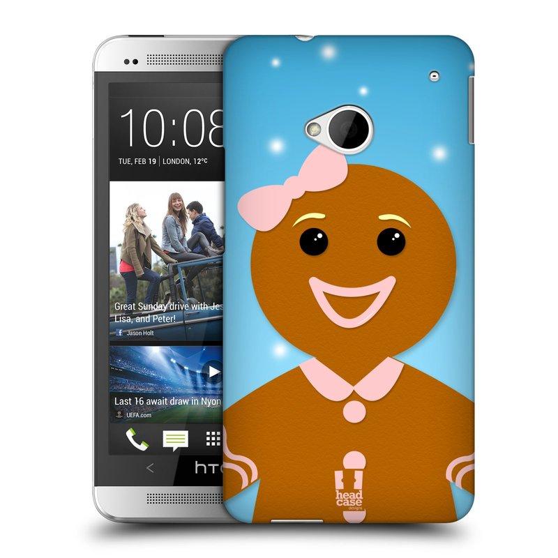 Plastové pouzdro na mobil HTC ONE M7 HEAD CASE VÁNOCE PERNÍČEK (Kryt či obal na mobilní telefon HTC ONE M7)