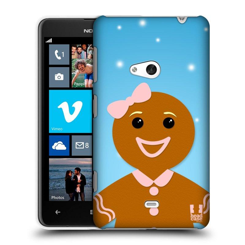 Plastové pouzdro na mobil Nokia Lumia 625 HEAD CASE VÁNOCE PERNÍČEK (Kryt či obal na mobilní telefon Nokia Lumia 625)