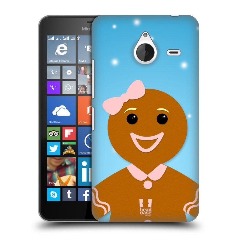 Plastové pouzdro na mobil Microsoft Lumia 640 XL HEAD CASE VÁNOCE PERNÍČEK (Kryt či obal na mobilní telefon Microsoft Lumia 640 XL)