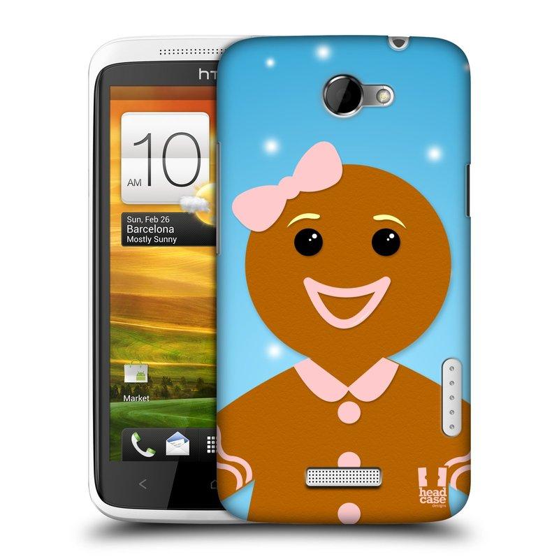 Plastové pouzdro na mobil HTC ONE X HEAD CASE VÁNOCE PERNÍČEK (Kryt či obal na mobilní telefon HTC ONE X)