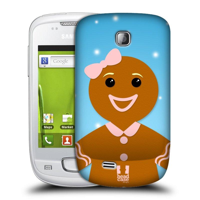 Plastové pouzdro na mobil Samsung Galaxy Mini HEAD CASE VÁNOCE PERNÍČEK (Kryt či obal na mobilní telefon Samsung Galaxy Mini GT-S5570 / GT-S5570i)