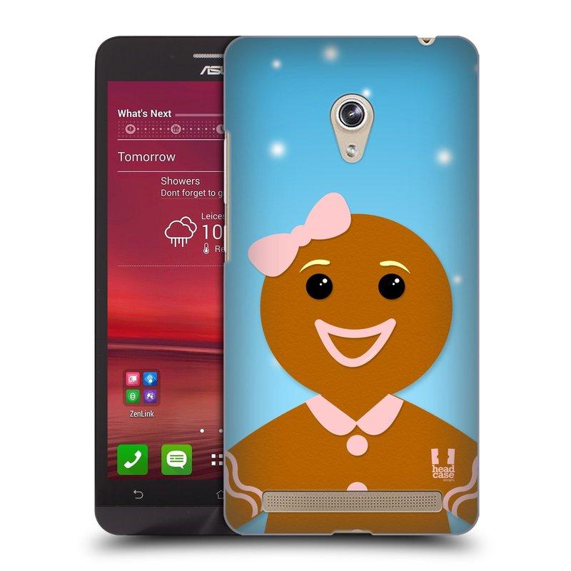 Plastové pouzdro na mobil Asus Zenfone 6 HEAD CASE VÁNOCE PERNÍČEK (Kryt či obal na mobilní telefon Asus Zenfone 6 A600CG / A601CG)