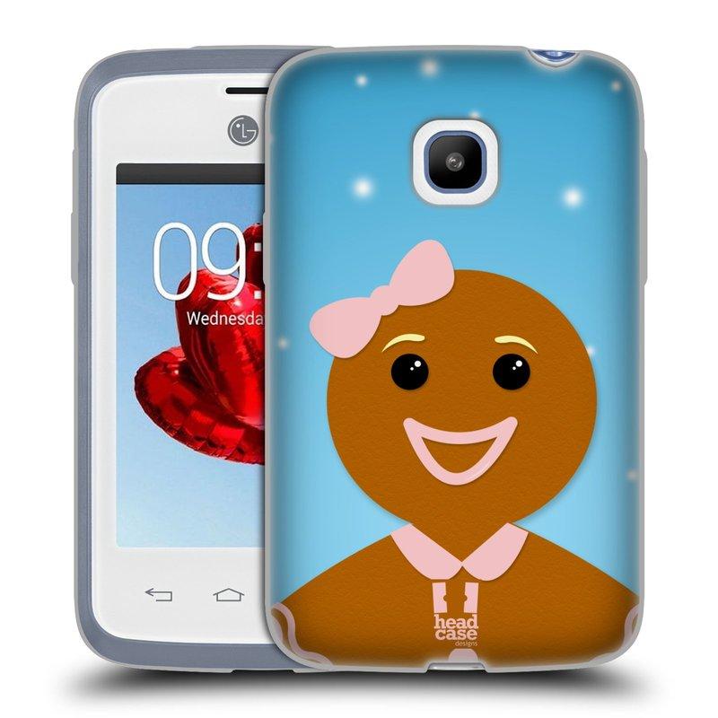 Silikonové pouzdro na mobil LG L20 HEAD CASE VÁNOCE PERNÍČEK (Silikonový kryt či obal na mobilní telefon LG L20 D107)